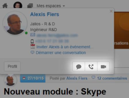 Toujours plus ouvert, toujours plus communiquant, testez notre nouveau module Skype